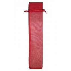 20 Bolsas organza incienso 7.5x35 - rojo