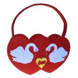 3 Bolsas fieltro - 2 corazones variados