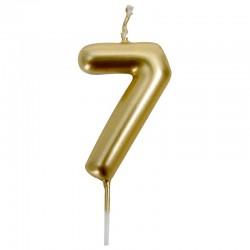 12 Velas doradas número 7