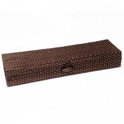 10 Cajas cuadrada chocolate 21.5cm