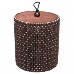 10 Cajas cilindro chocolate 9x8cm