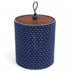 10 Cajas cilindro azul 9x8cm