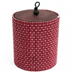 10 Cajas cilindro rosa 9x8cm