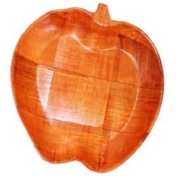 6 Cuencosmadera forma manzana - 15cm