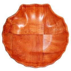 6 Cuencosmadera forma concha - 15cm