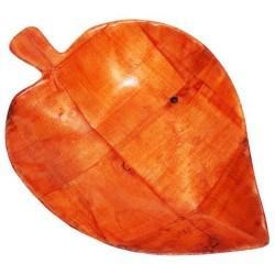6 Cuencosmadera forma hoja - 15cm