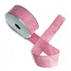 Lazo textura natural 38mm x 20m - rosa