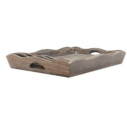 Set 3 bandejas madera envejecida