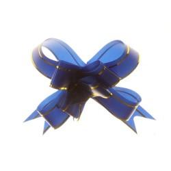 20 Lazos organza mini con tirador - Azul (pack de 10)