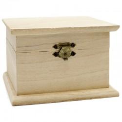 6 Cajitas madera tipo baúl