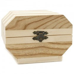 6 Cajitas madera octogonal pequeña