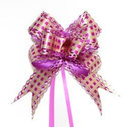20 Lazos con tirador cuadrado rosa (pack de 10)