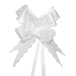 20 Lazos con tirador topo blanco (pack de 10)