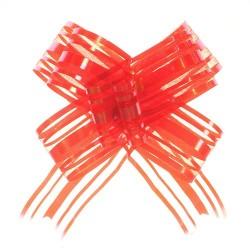 20 Lazos organza con tirador - Rojo (pack de 10)