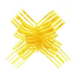 20 Lazos organza con tirador - Amarillo (pack de 10)