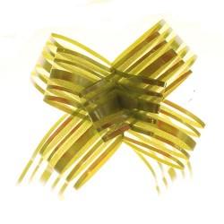 20 Lazos organza con tirador - Verde (pack de 10)