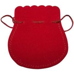 25 Bolsas terciopelo - Rojo