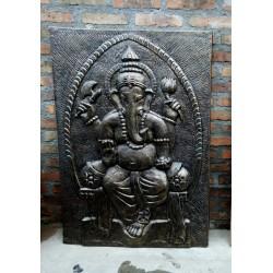2 Placas Ganesha Ganpati plata 100x80cm