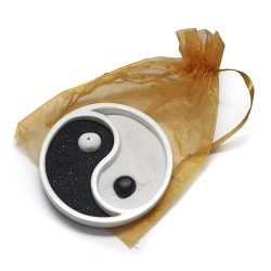 3 Jardínes Zen ying yang blanco