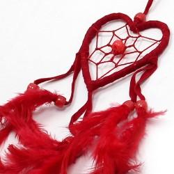 Pack 6 atrapasueños Bali corazón peq - negro | blanco | rojo