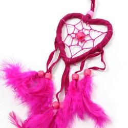 Pack 6 atrapasueños Bali corazón peq - turquesa | rosa | morado