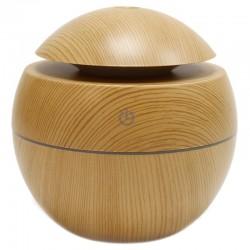 Humidificador aroma forma bola madera pino