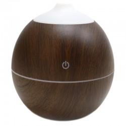 Humidificador aroma forma bola con luz madera palo de rosa