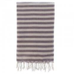 Fouta con toalla 90x180cm - púrpura