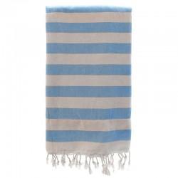 Fouta con toalla 90x180cm - turquesa