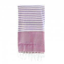 Fouta con toalla 90x180cm - morado y fucsia