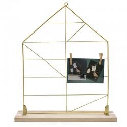"""2 Portafotos con pinzas madera dorado """"Golden Chic"""" 35x45cm"""