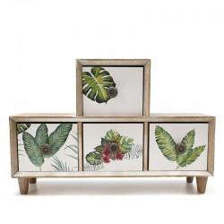 Mueble 4 cajones hojas 9x20x30cm