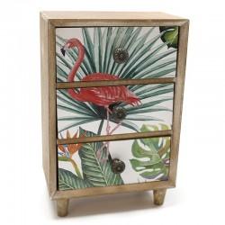 Mueble 3 cajones flamencos 9x22.5x15cm