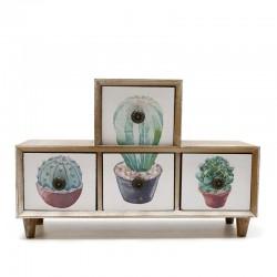 Mueble 4 cajones cactus 9x20x30cm