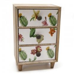 Mueble 3 cajones cactus 9x22.5x15cm