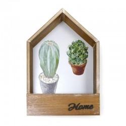 Estanteria sobremesa cactus home 6.5x32x20cm