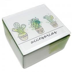 Caja cristal cactus 12x12x7cm