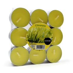 1 Pack velitas night lights citronela (Paquete 18 und)