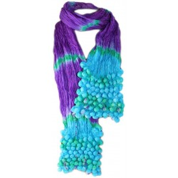 Pañuelo seda cachemir burbujas - lila y malva