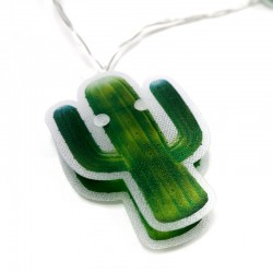 Guirnalda cactus PVC luz led 165cm