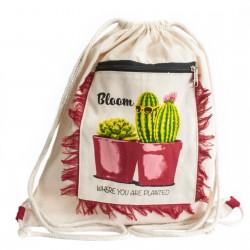 4 Mochilas fringe - cactus