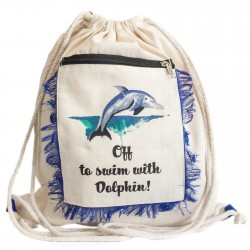 4 Mochilas fringe - delfín