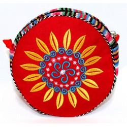 3 bolsos tibetanos redondo - rojo 18cm