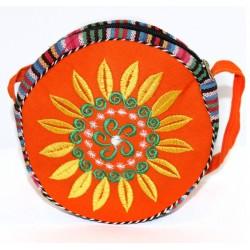 3 bolsos tibetanos redondo - naranja 18cm