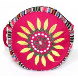3 bolsos tibetanos redondo - fucsia 18cm