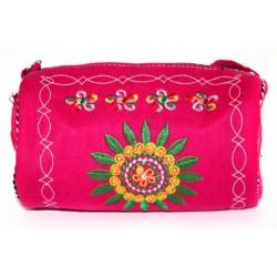 3 bolsos tibetanos - baguette fucsia 20x10cm