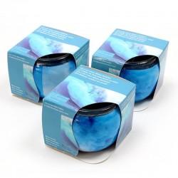 3 Velas en vaso - brisa marina