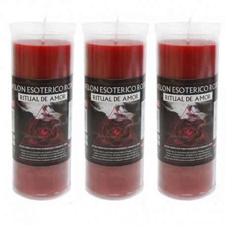 3 Velón esotérico - Rojo