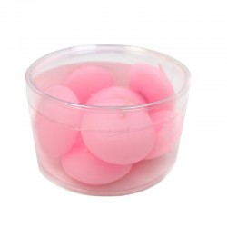 3 Packs 9 velas flotantes - rosa