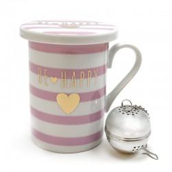 3 Tazas de té con tapa y filtro - surtidos